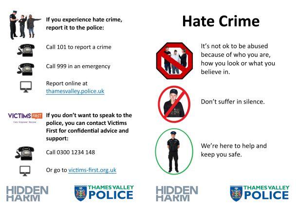 Hate crime easy read leaflet
