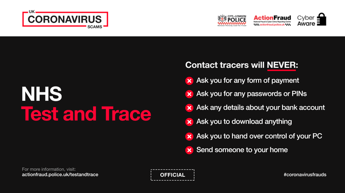 NHS Test and Trace Action Fraud